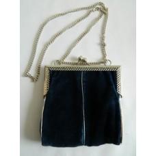 Радикюль, сумочка, металл, велюр