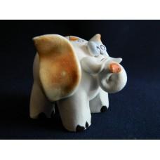 Статуэтка керамика Слон рыжие ушки