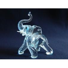 Статуэтка стекло Слон голубой