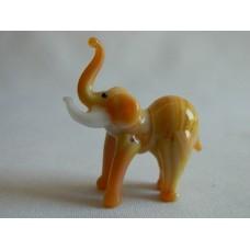 Статуэтка стекло Слон рыжий