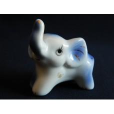 Статуэтка фарфор Слоненок белый, синий