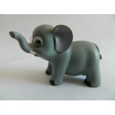 Статуэтка полистоун Слон серо-голубой