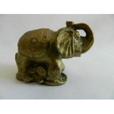 Статуэтка керамика Слон золотистый