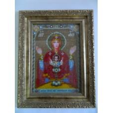 Картина бисером Пресвятая Богородица