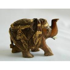 Статуэтка дерево, позолота, Слон
