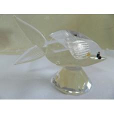 Статуэтка Рыбка белая. Boda Crystal Brilliant. Бельгия