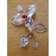 Статуэтка Цветок на ветке. Boda Crystal Brilliant. Бельгия
