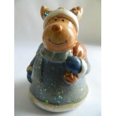 Сувенир керамика Собака Дед Мороз