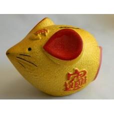 Копилка Мышка золотистая
